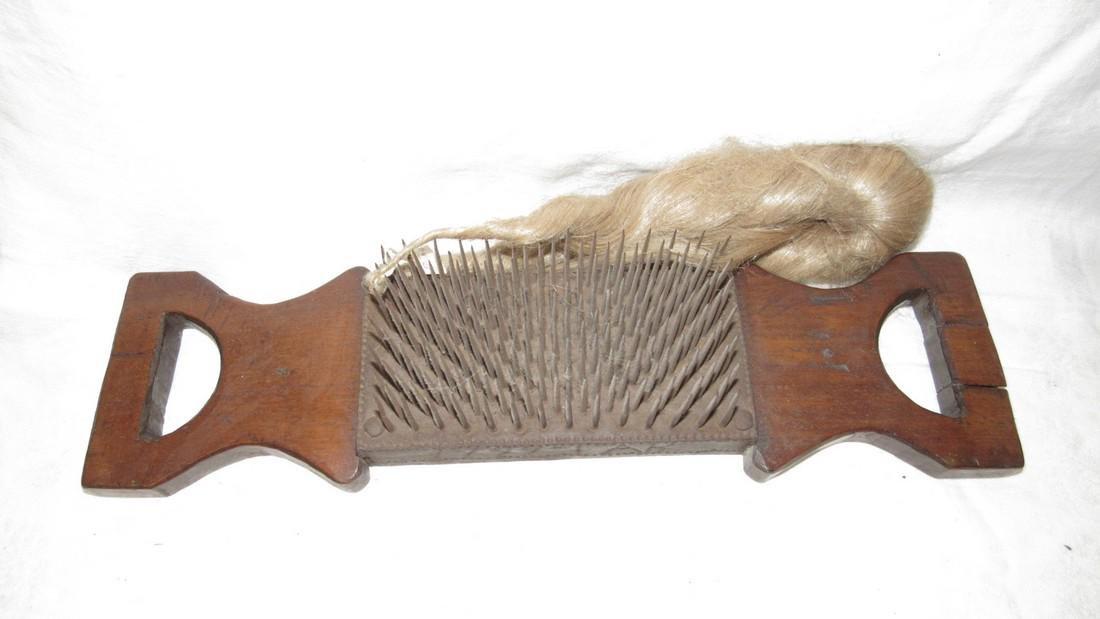 Antique Flax Comb / Hetchel 1799 Dated - 2