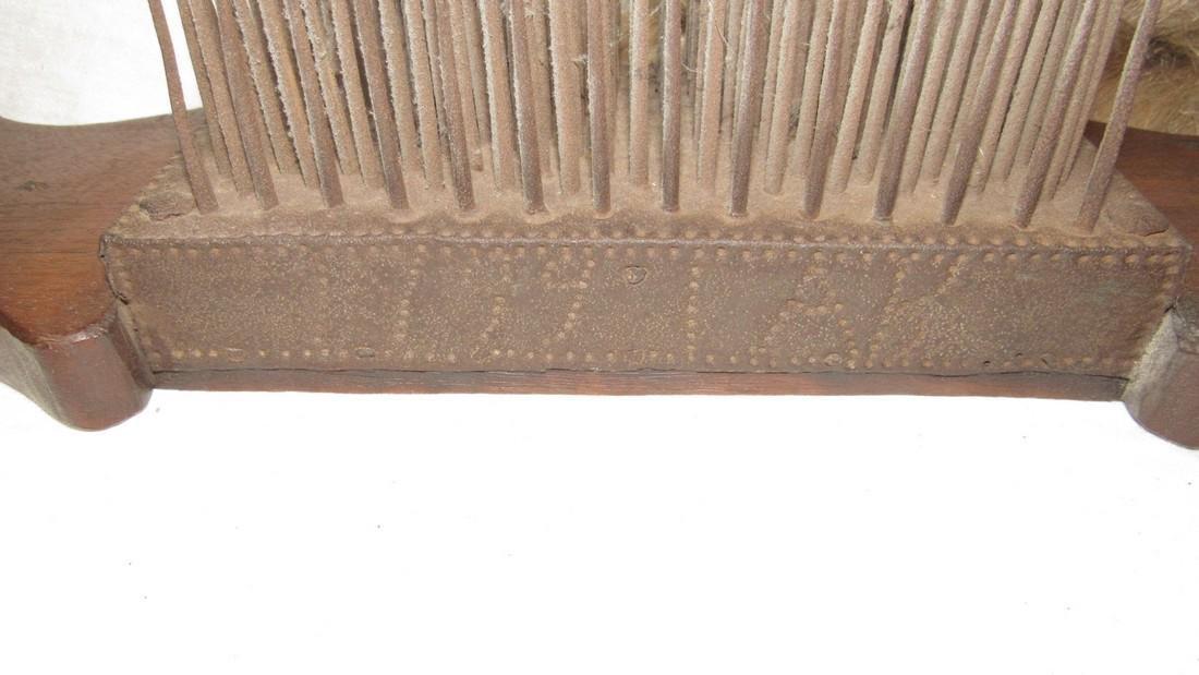 Antique Flax Comb / Hetchel 1799 Dated - 3