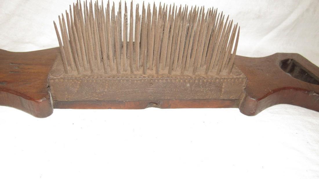 Antique Flax Comb / Hetchel 1799 Dated - 5