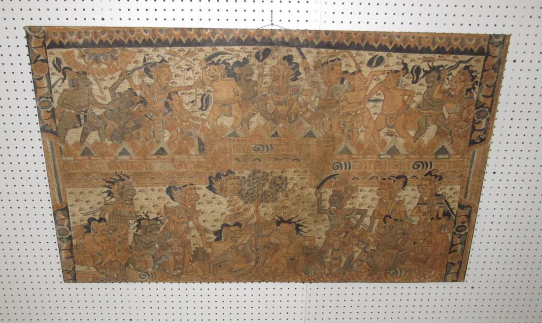 Aztec & Mayan War Gods Painting On Canvas