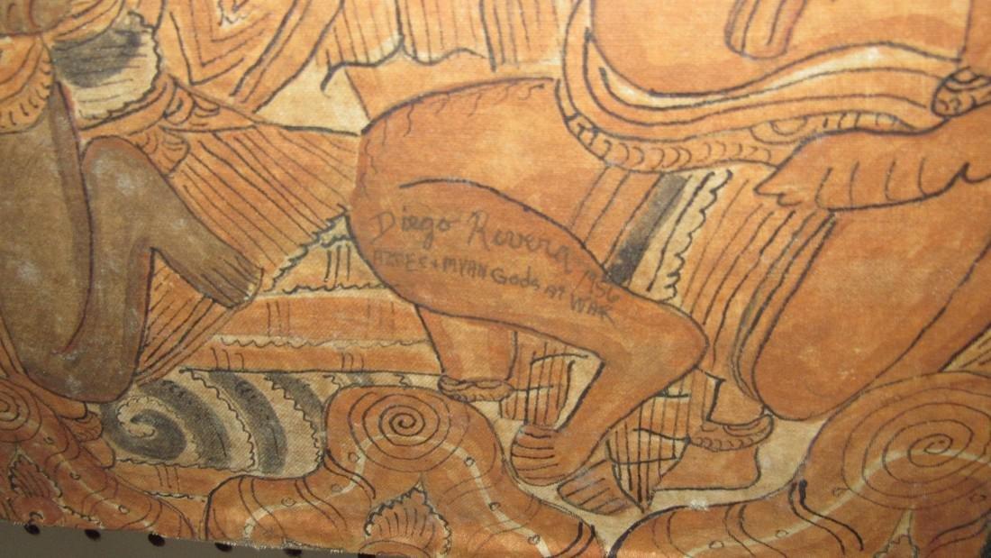 Aztec & Mayan War Gods Painting On Canvas - 5