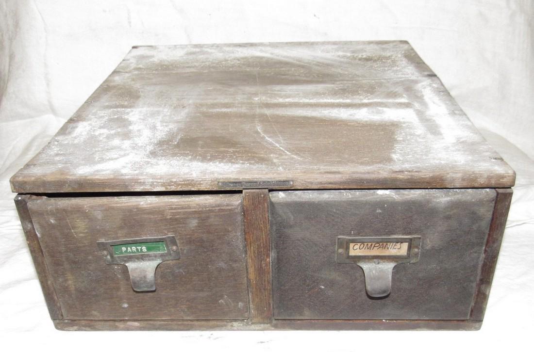 2 Drawer Oak File Box
