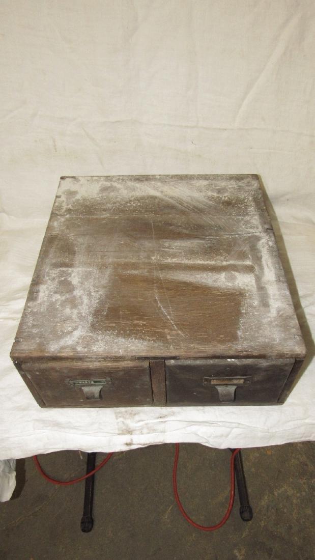 2 Drawer Oak File Box - 2