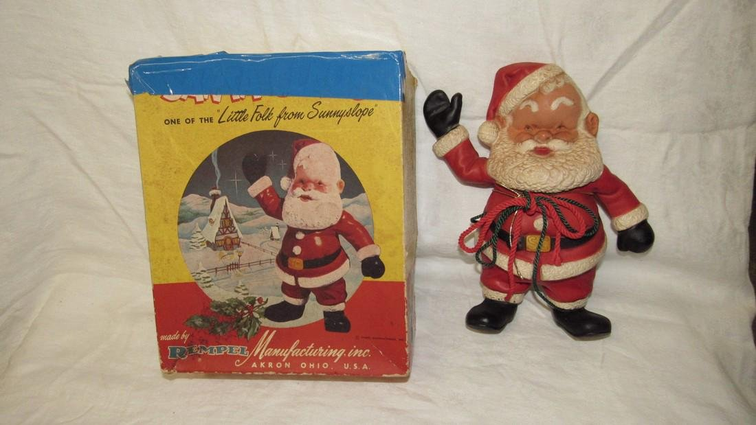 Rempel Rubber Santa Claus Squeaky Toy