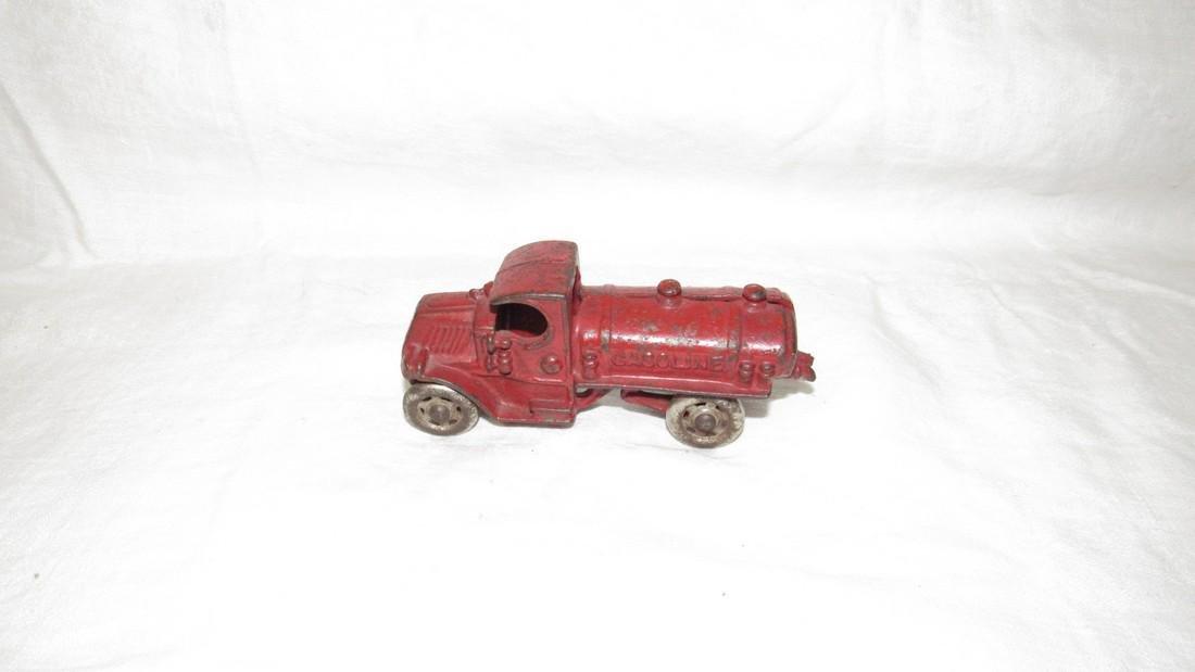 Antique Cast Iron Toy Gasoline Truck - 3