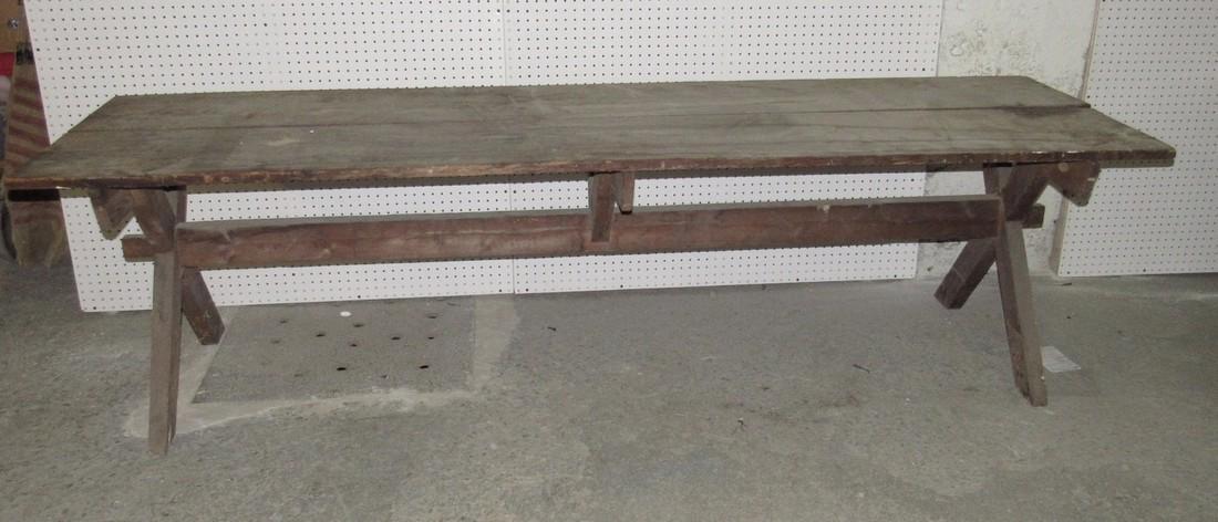Early Sawbuck Table w/ 2 Board Top