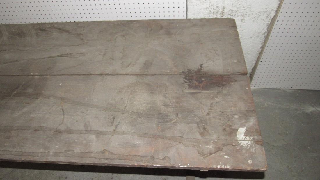 Early Sawbuck Table w/ 2 Board Top - 6
