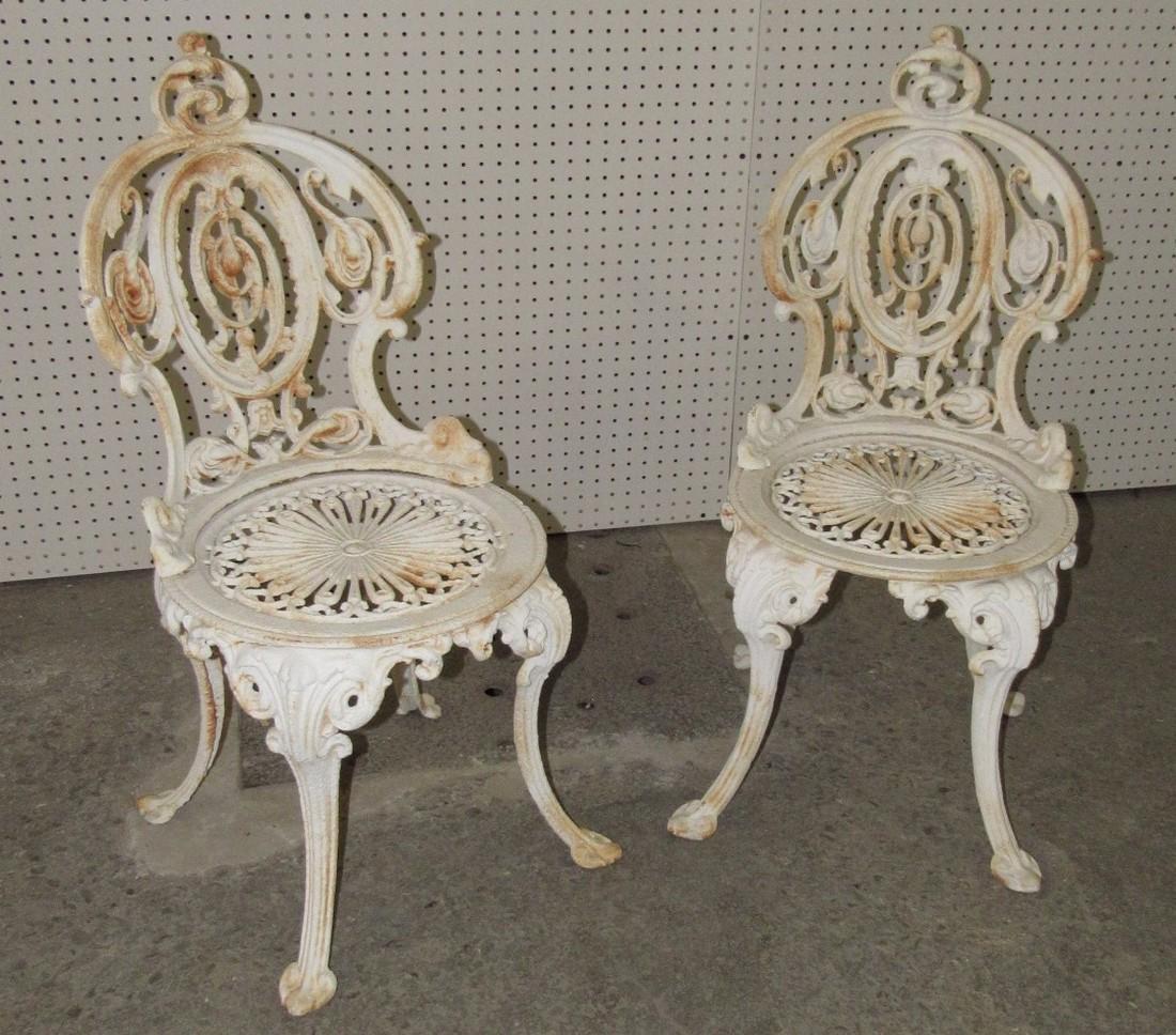 2 Cast Iron Garden Chairs