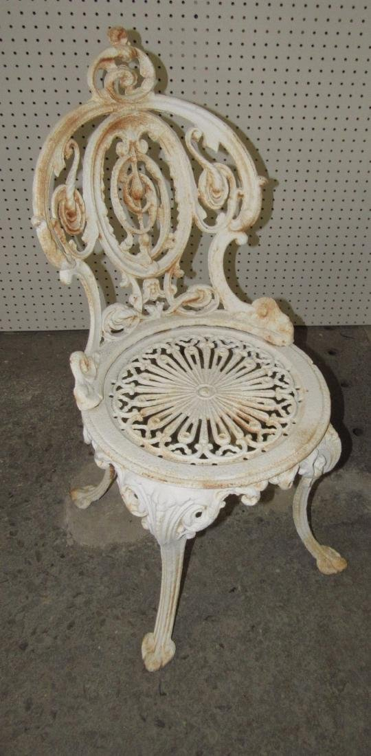 2 Cast Iron Garden Chairs - 2