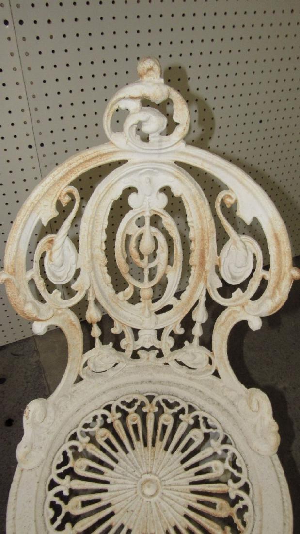 2 Cast Iron Garden Chairs - 3