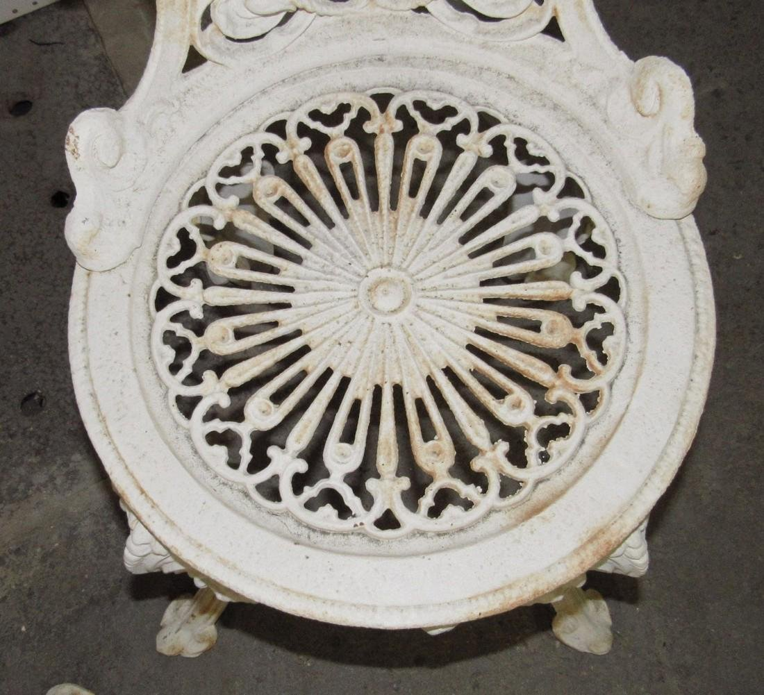 2 Cast Iron Garden Chairs - 4
