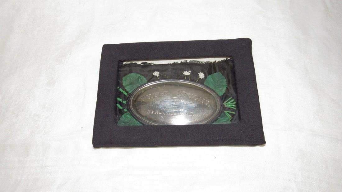 Antique 1862 Phebe Knight Casket Plate