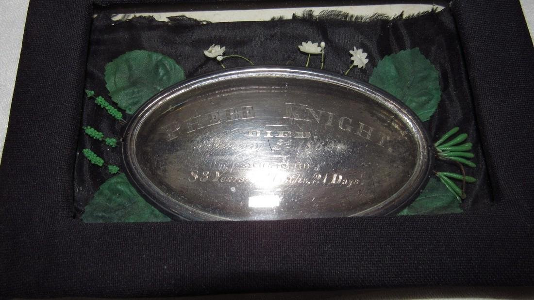 Antique 1862 Phebe Knight Casket Plate - 2