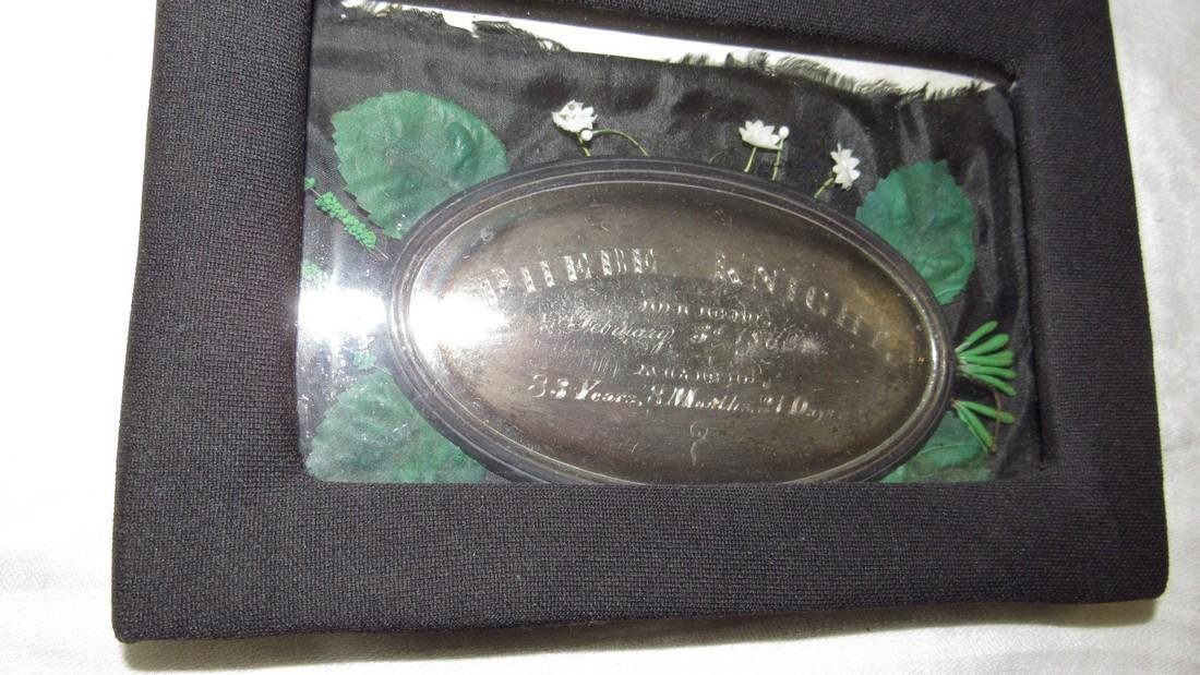 Antique 1862 Phebe Knight Casket Plate - 3