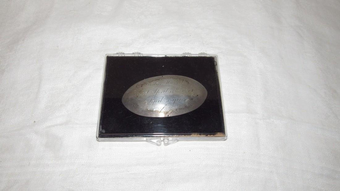 Col Walter Husted 1823 Casket Plate
