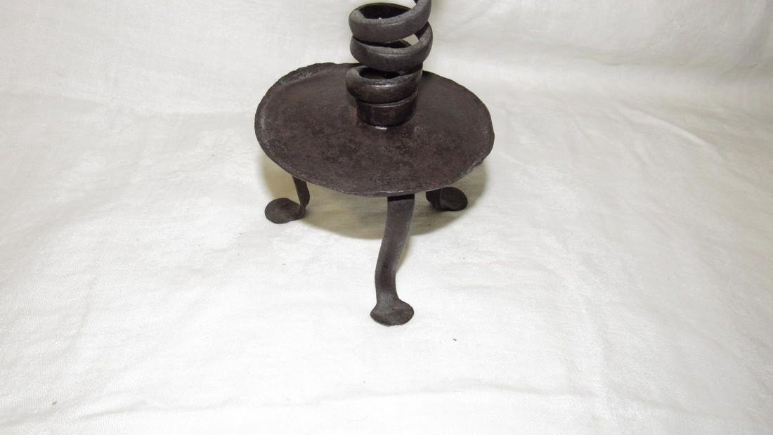 Wrought Iron Twist Candlestick Candle Holder - 2