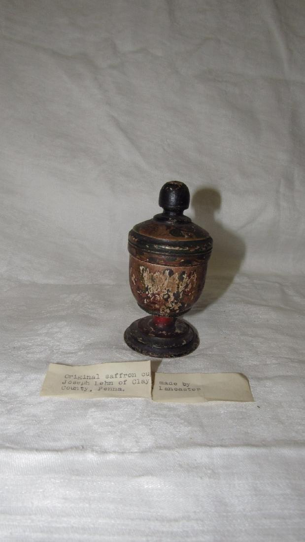 Lehnware Saffron Spice Cup Paint Decorated
