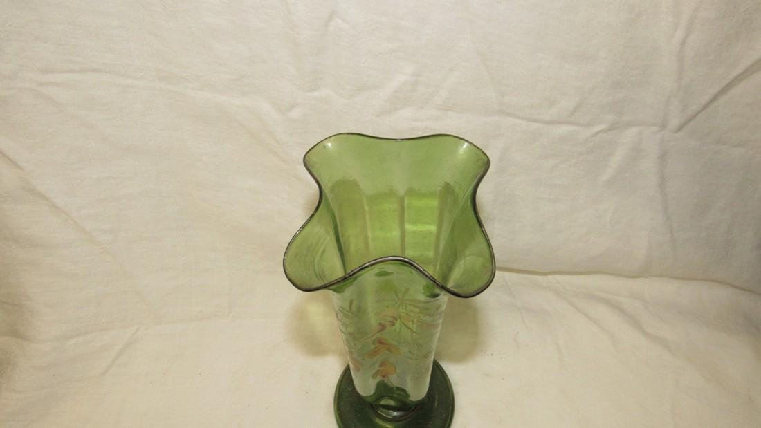 Early Paint Decorated Glass Vase - 2