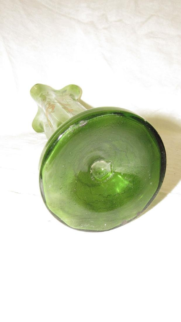 Early Paint Decorated Glass Vase - 4