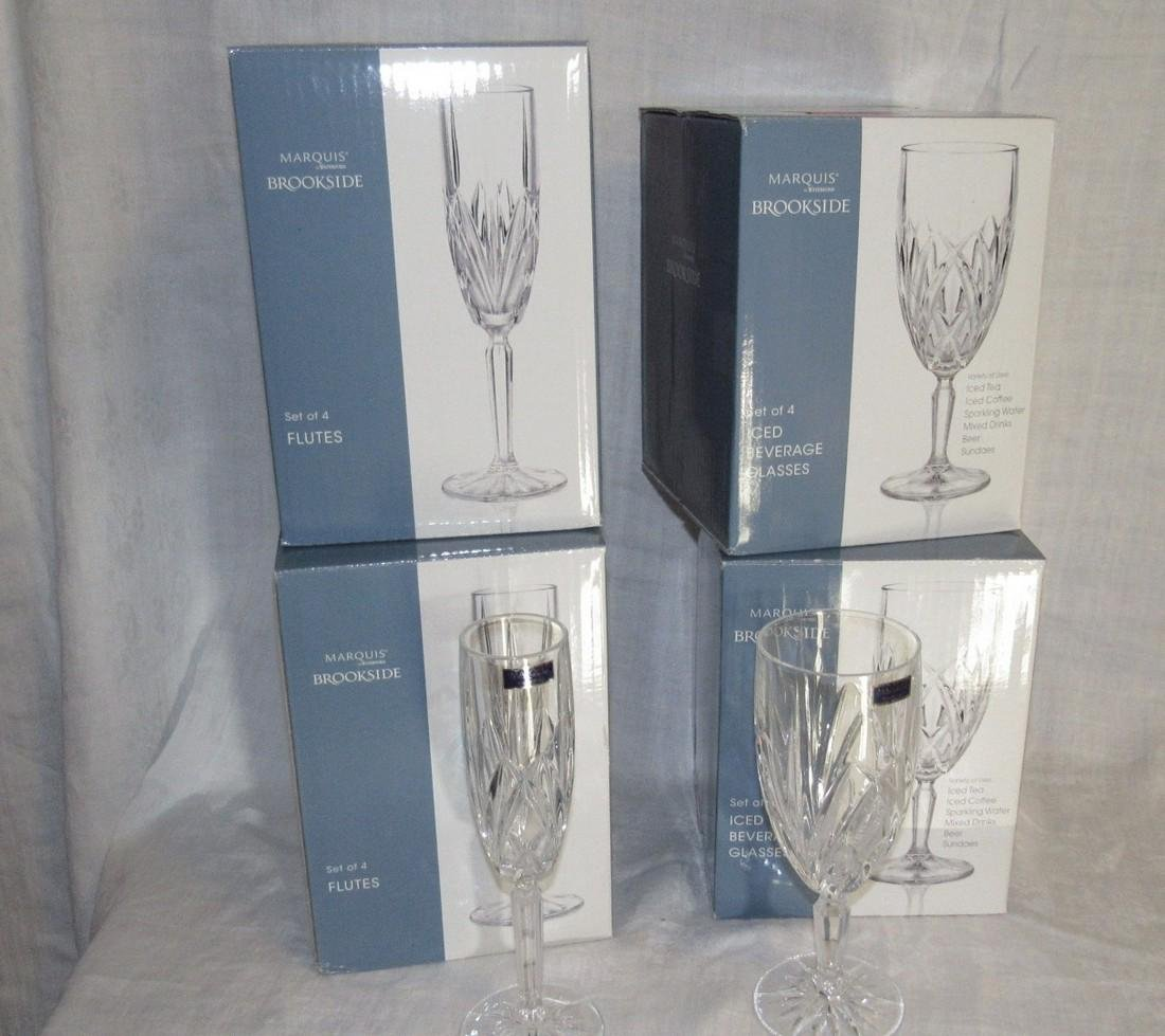 8 Waterford Marquis Beverage Glasses & Flutes