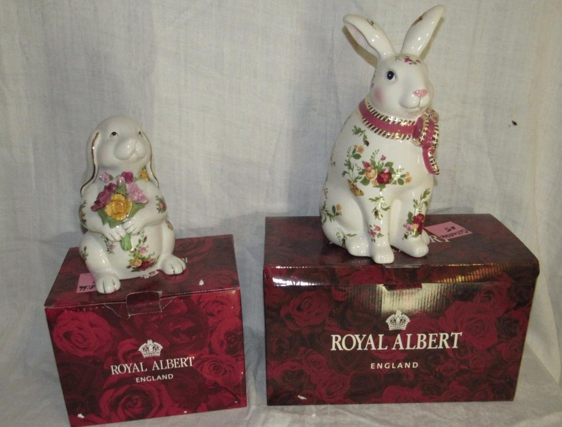2 Royal Albert Rabbits