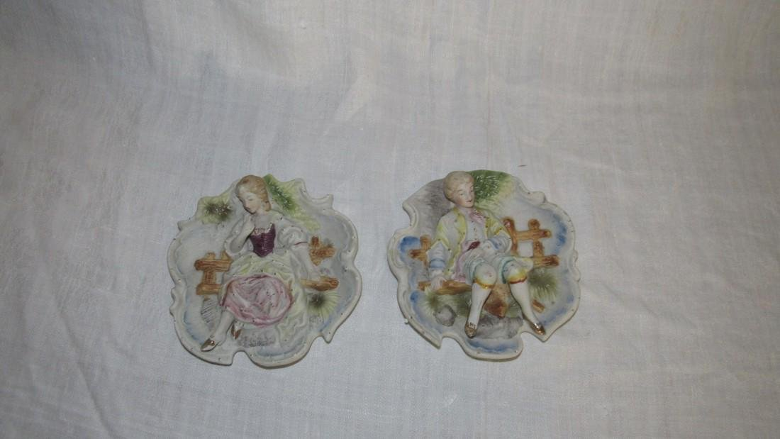 2 Victorian Wall Hangings Made in Japan