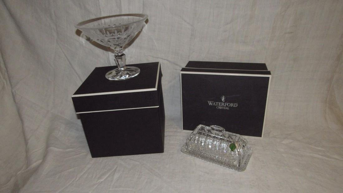 Waterford Crystal Butter Dish & Compote