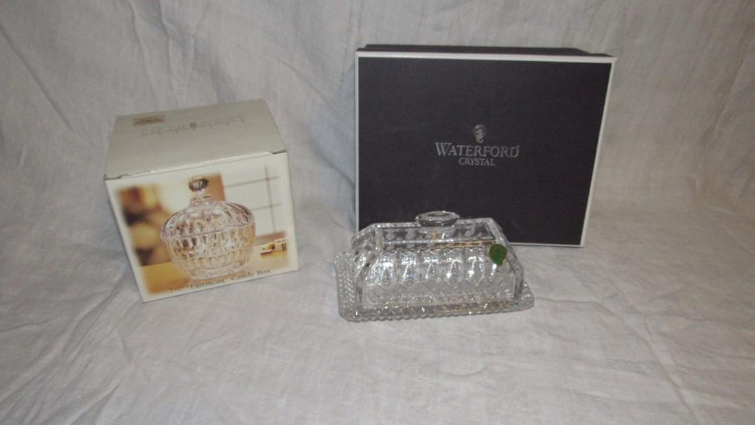 Waterford Butter Dish & Fifth Avenue Crystal