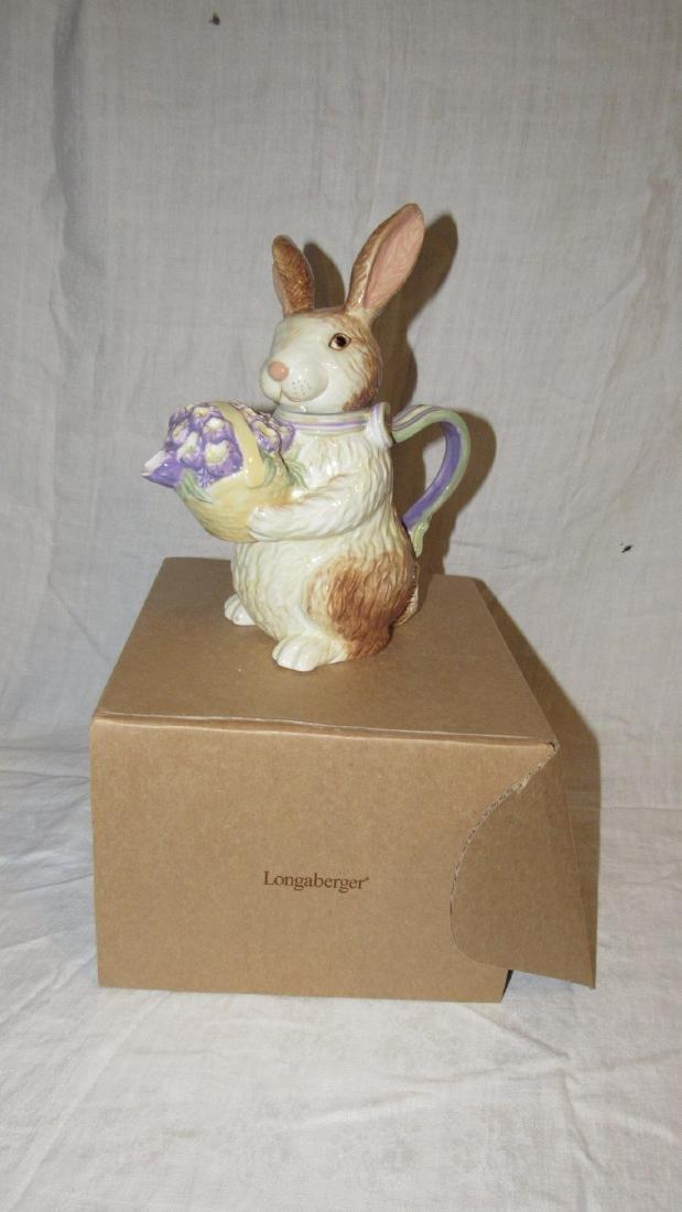 Longaberger Bunny Teapot