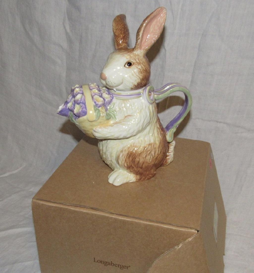 Longaberger Bunny Teapot - 2