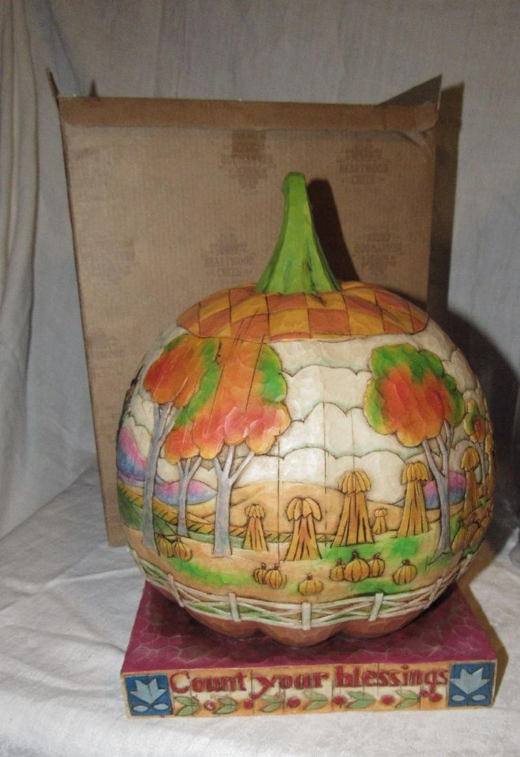 Enesco Heartwood Creek Jim Shore Pumpkin - 2