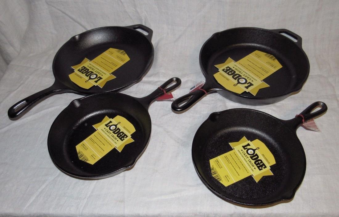 4 Lodge Cast Iron Fry Pans