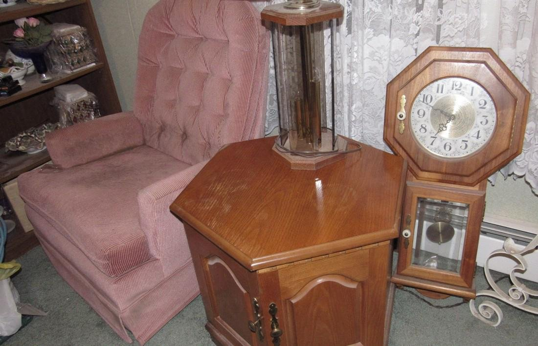 Clock Recliner Lamp and End Table - 2