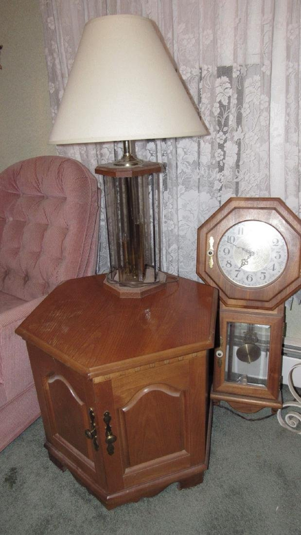 Clock Recliner Lamp and End Table - 3