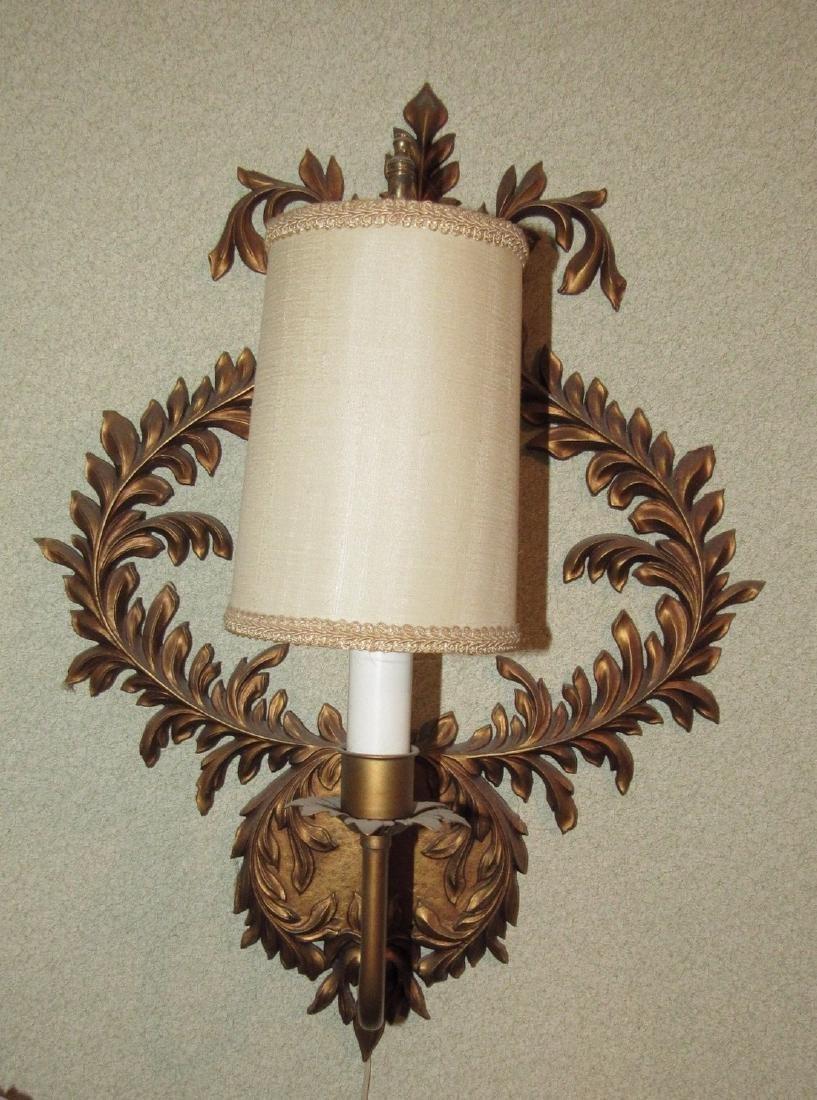 Cast Aluminum Mid Century Modern Wall Lamp