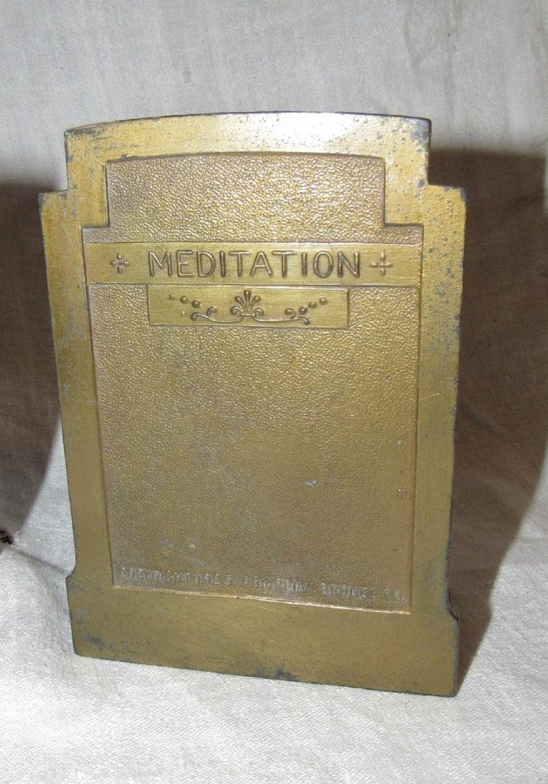 1925 Meditation Pompeian Bronze Bookends - 4