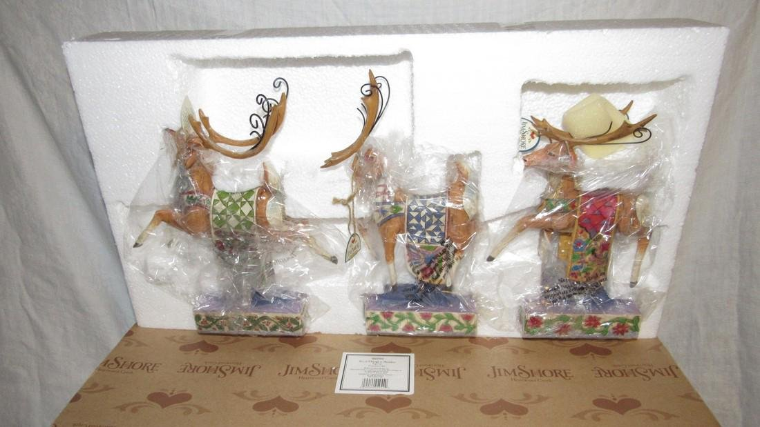 Jim Shore Sleigh w/ Reindeer Figurines - 2
