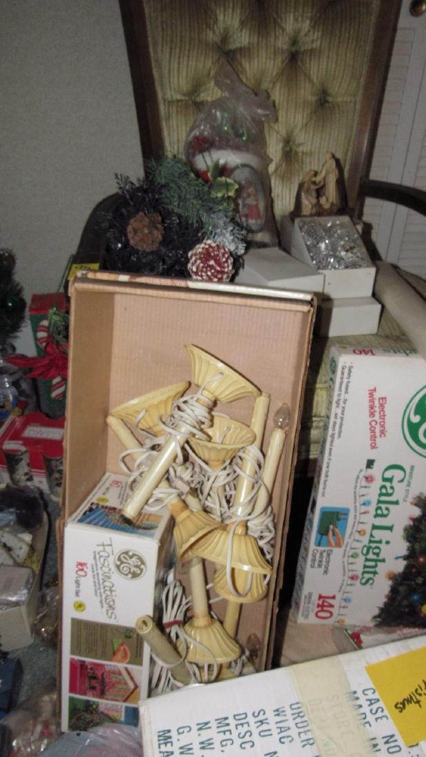 Lot of Vintage Christmas Decorations & Trees - 4