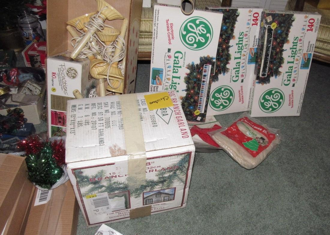 Lot of Vintage Christmas Decorations & Trees - 5