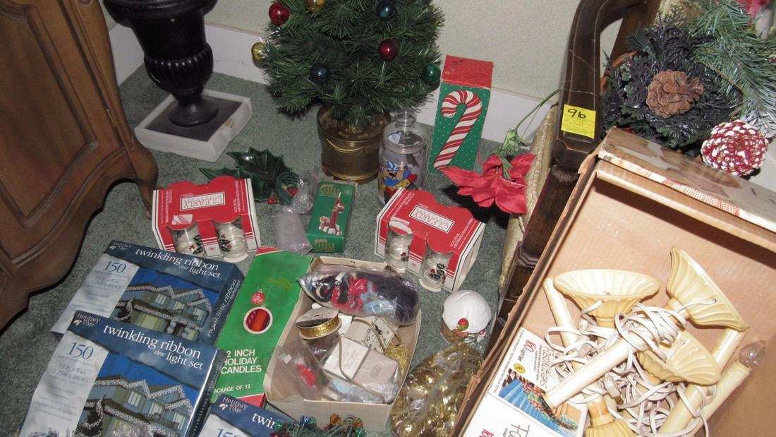 Lot of Vintage Christmas Decorations & Trees - 6