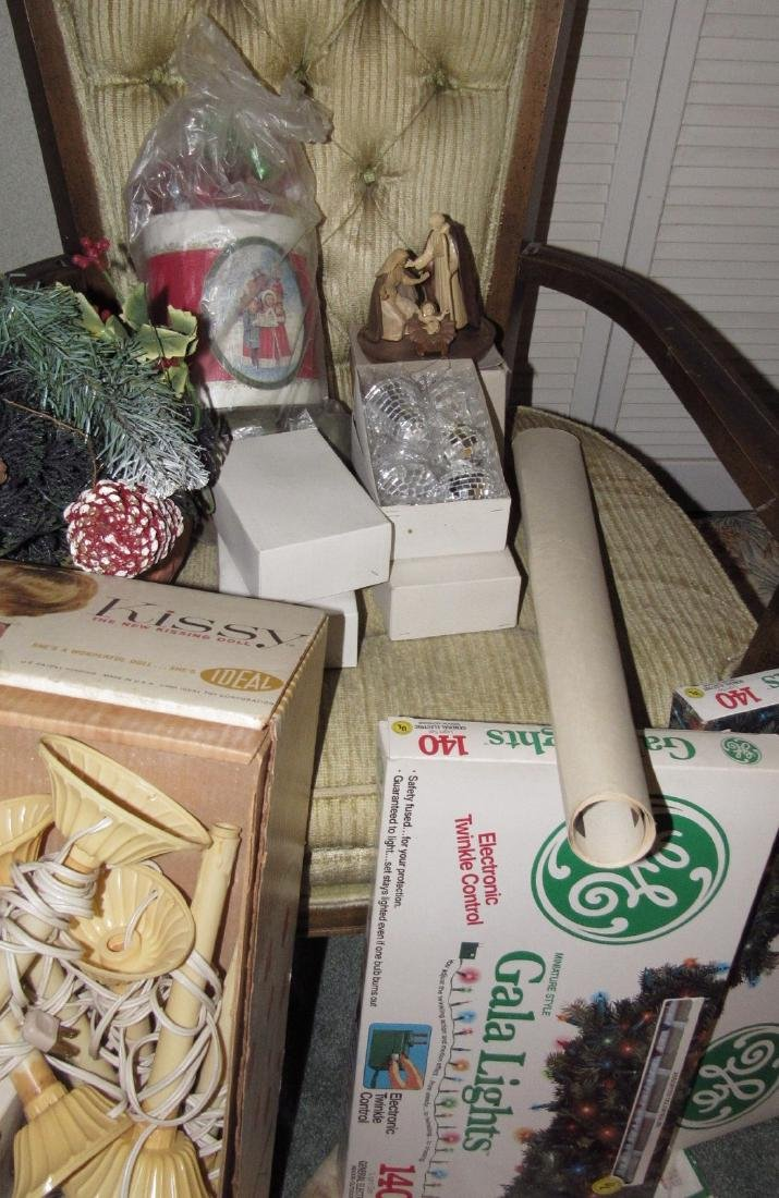 Lot of Vintage Christmas Decorations & Trees - 8