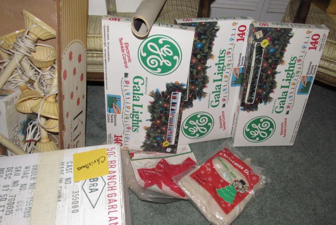 Lot of Vintage Christmas Decorations & Trees - 9