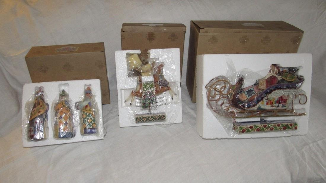 Jim Shore Christmas Figurines Wisemen Reindeer