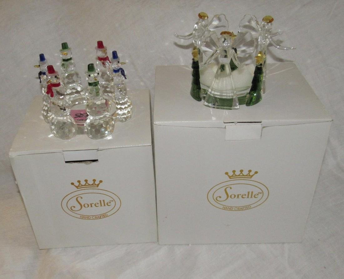Sorelle Crystal Christmas Figurines