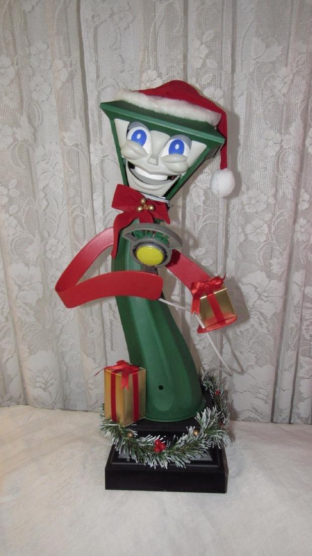Christmas Animated Santa Lamp Post Snow Globe - 5