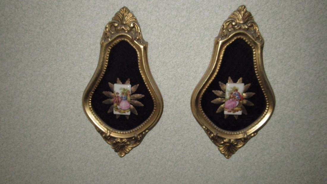 Victorian Porcelain Wall Hangings