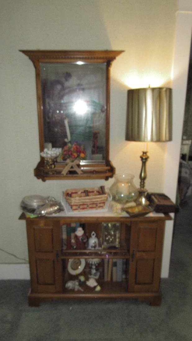 Cabinet Contents Lamp Bell & Mirror