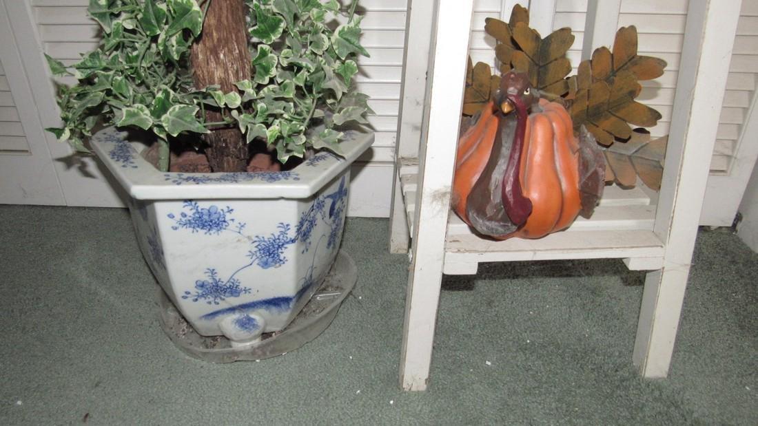 Plant Stand Planter & Turkey - 3