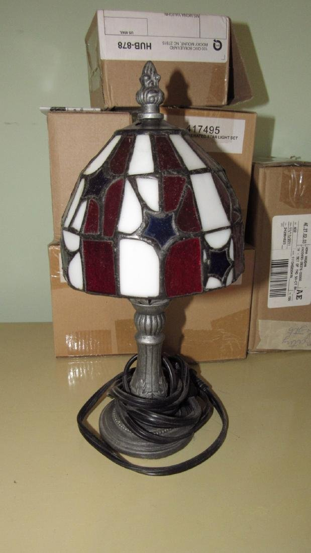 "11"" Stained Glass Lamp Christmas Lights & Timers - 4"