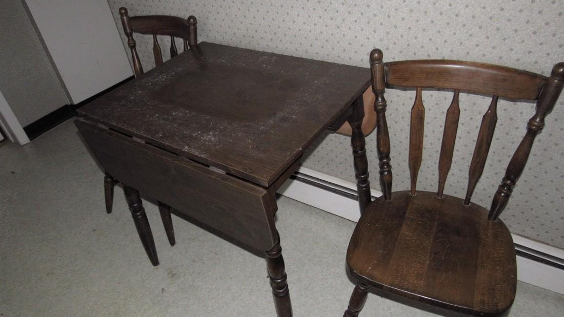 Pine Kitchen Table and 2 Chairs - 2